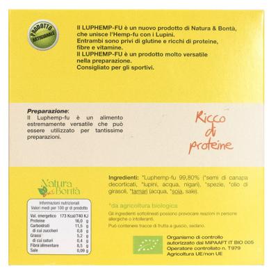 Luphemp-Fu alla piastra , Tofu di Canapa e Lupini, Natura e Bontà, 200g