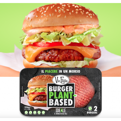 Alternativa al Beyond Meat - IDEALE il burger vegetale 226g -  Via Emilia - con proteine di pisello