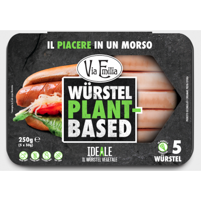 Alternativa al Beyond Meat - IDEALE I würstel vegetali 250g - di Via Emilia - con proteine di pisello