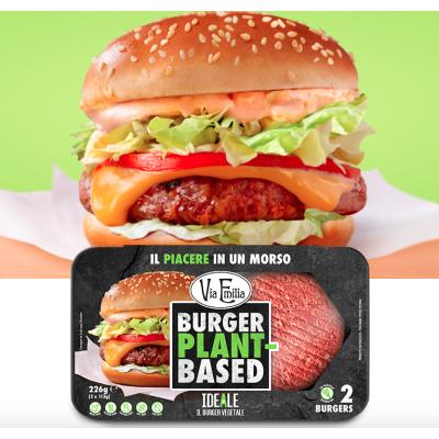 Via Emilia - IDEALE il burger vegetale 226g con proteine di pisello