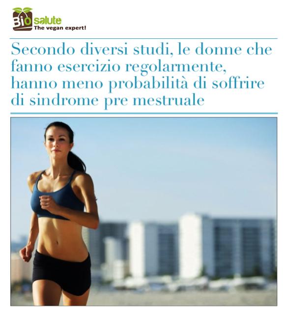 Esercizio fisico e sindrome pre mestruale