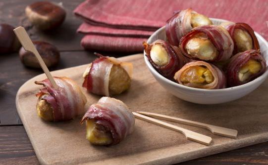 Bocconcini di castagne e bacon vegan